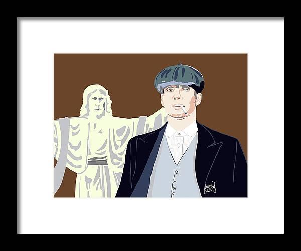Contemporary Art Framed Print featuring the digital art Peaky by Jayne Hadlow
