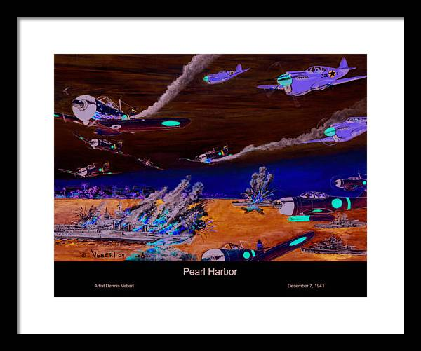 Fighter Planes Framed Print featuring the painting Pearl by Dennis Vebert