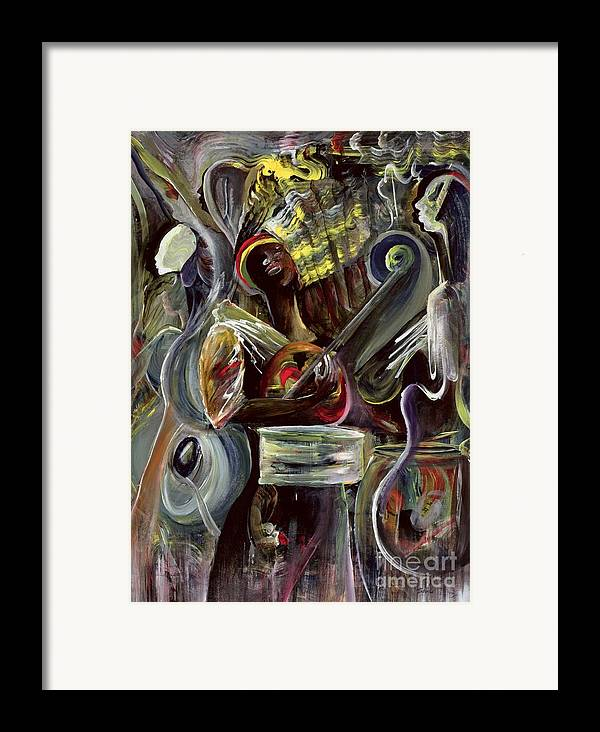 African-american Framed Print featuring the painting Pearl Jam by Ikahl Beckford