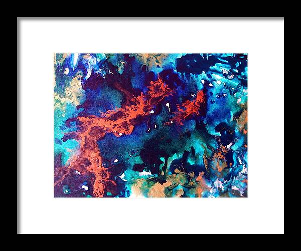 Ocean Framed Print featuring the painting Pearl by Jess Thorsen