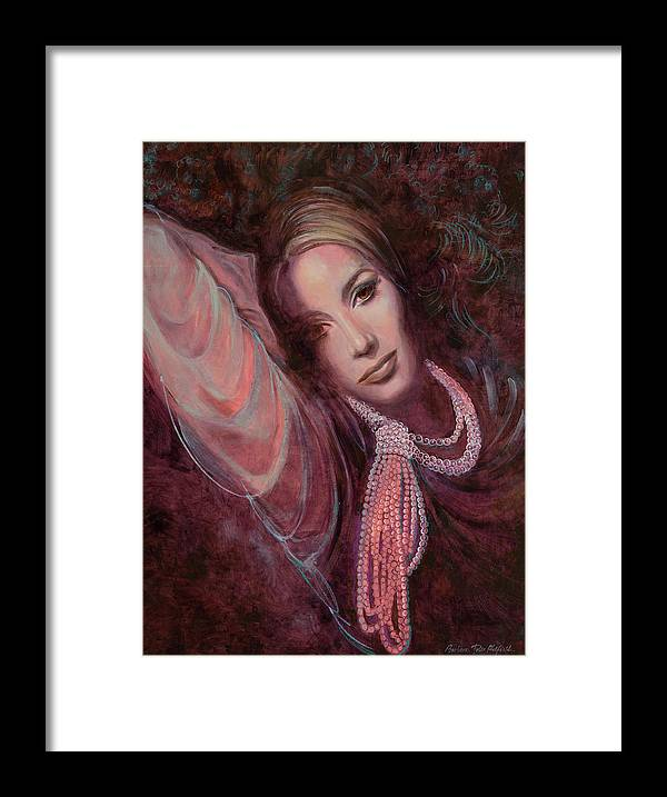 Fashion Illustration Framed Print featuring the painting Pearls on Rorie by Barbara Tyler Ahlfield