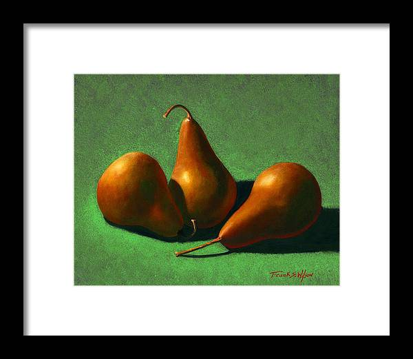 Still Life Framed Print featuring the painting Pears by Frank Wilson