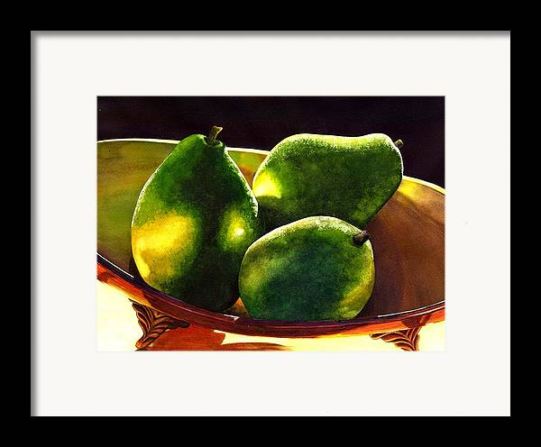 Still Life Framed Print featuring the painting Pears No 2 by Catherine G McElroy
