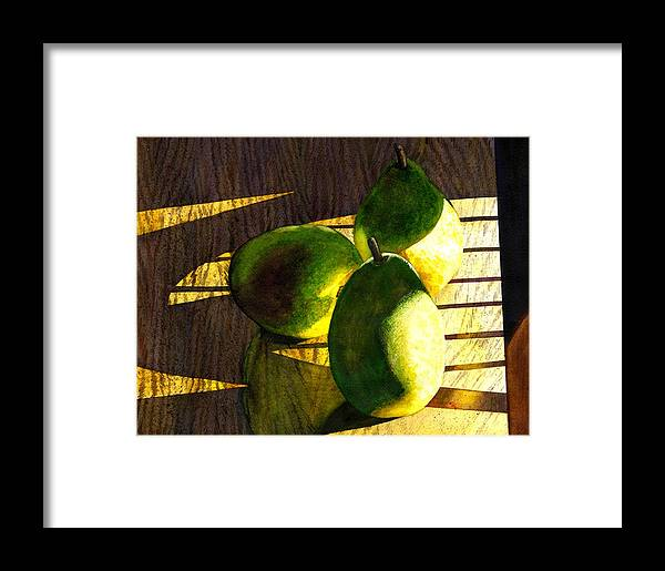 Pears Framed Print featuring the painting Pears No 3 by Catherine G McElroy