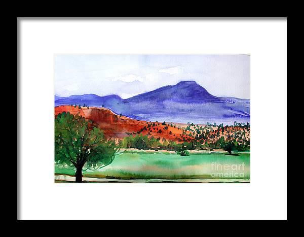 Pedernal Framed Print featuring the painting Pedernal by Vanda Sucheston Hughes