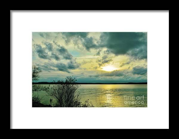 Jordan Lake Framed Print featuring the photograph Peeking Through by Kelly Nowak