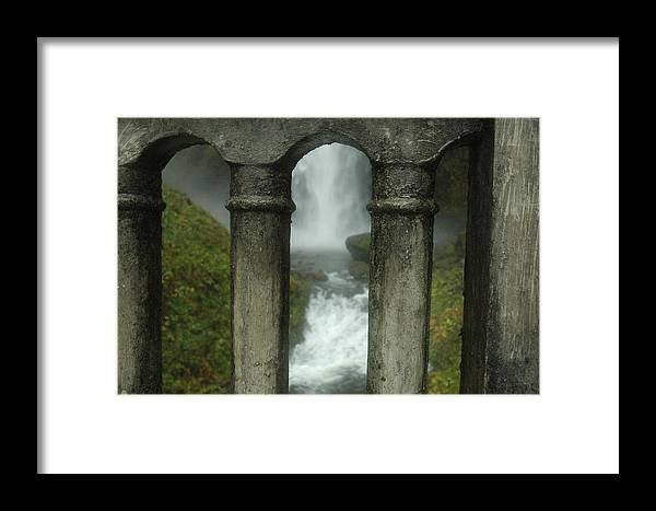 Abstract Framed Print featuring the photograph Peeking Through by Lori Mellen-Pagliaro