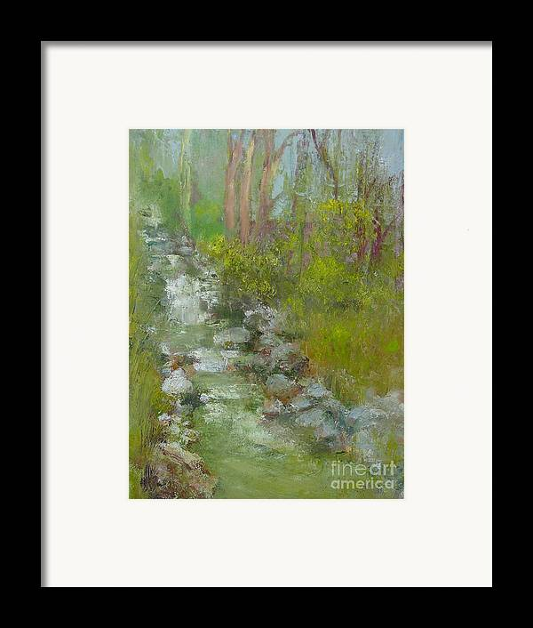Landscape Framed Print featuring the painting Peekskill Hollow Creek by Kathleen Hoekstra