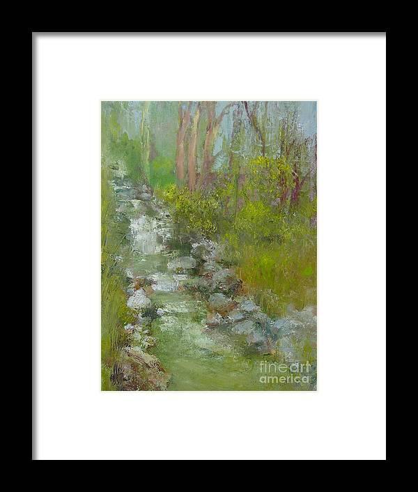 Landscape Framed Print featuring the painting Peekskill Hollow Creek by Kathleen Hoekstra