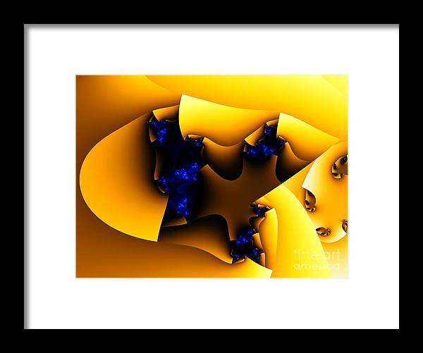 Fractal Art Framed Print featuring the digital art Peeling Away by Ron Bissett