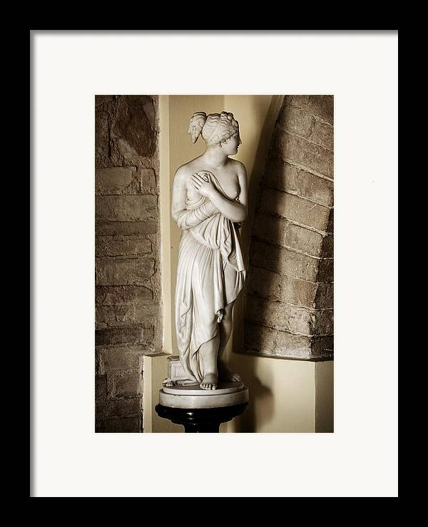 Statue Framed Print featuring the photograph Peering Woman by Marilyn Hunt
