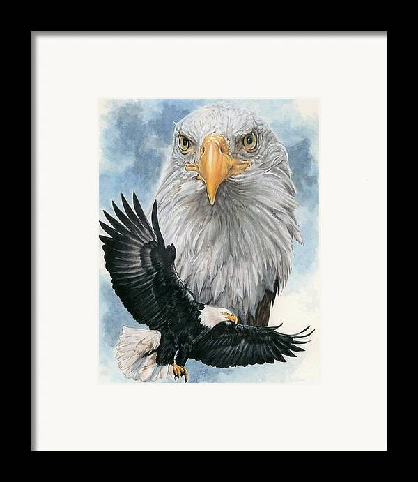 Bald Eagle Framed Print featuring the mixed media Peerless by Barbara Keith