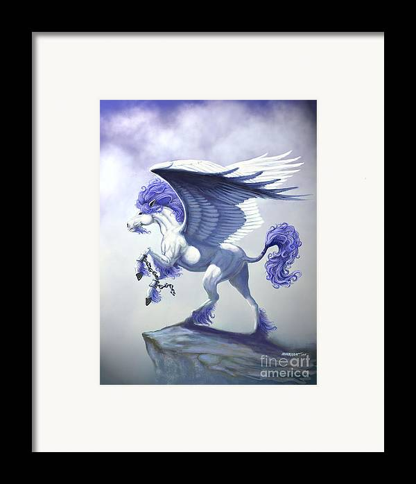Pegasus.fantasy Framed Print featuring the digital art Pegasus Unchained by Stanley Morrison