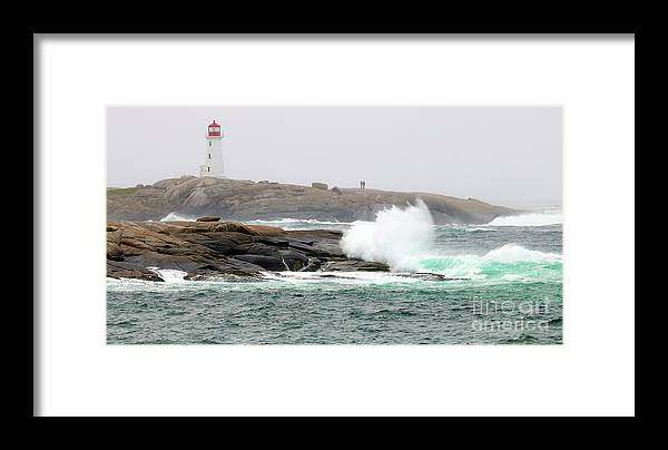 Peggy's Cove Lighthouse Framed Print featuring the photograph Peggys Cove Lighthouse 6127 by Jack Schultz