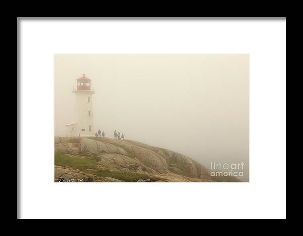 Peggy's_cove_lighthouse Csaba_demzse Framed Print featuring the photograph Peggy's Cove Lighthouse by Csaba Demzse