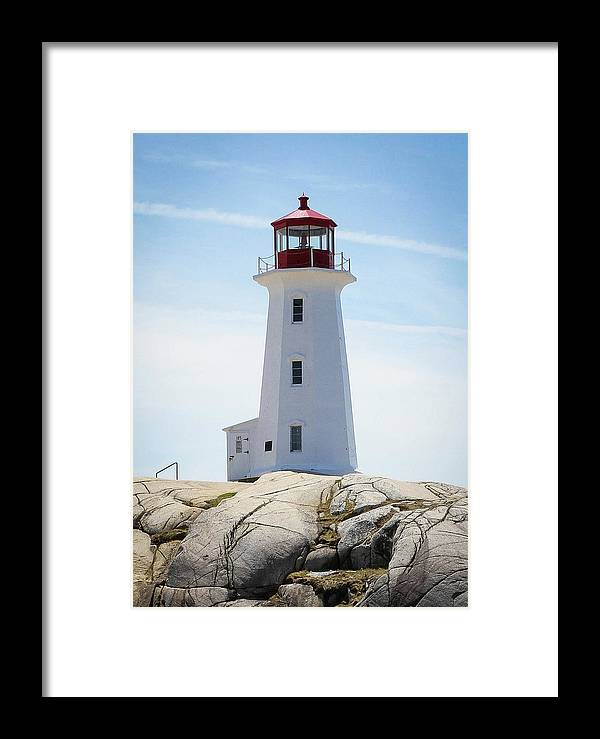 Lighthouse Framed Print featuring the photograph Peggy's Cove Lighthouse by Ron Vollentine