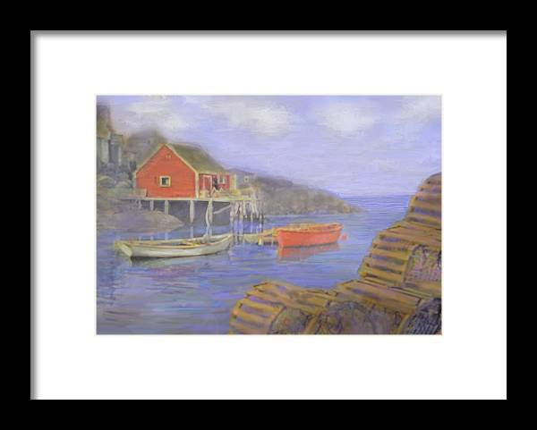 Nova Scotia Framed Print featuring the photograph Peggy's Cove Lobster Pots by Ian MacDonald