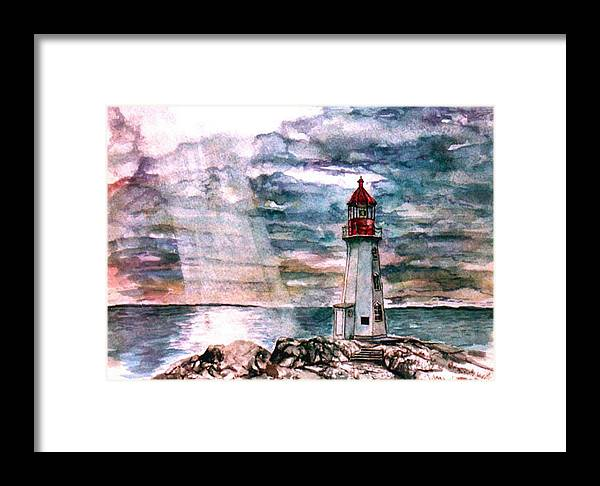 Peggy's Cove Framed Print featuring the painting Peggy's Cove by Paul Sandilands