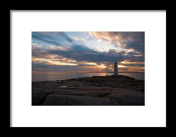 Nova Scotia Framed Print featuring the photograph Peggy's Cove Sunset by Andre Distel