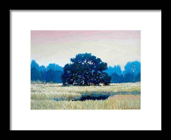Oak Framed Print featuring the painting Peggys Oak by Kevin Lawrence Leveque