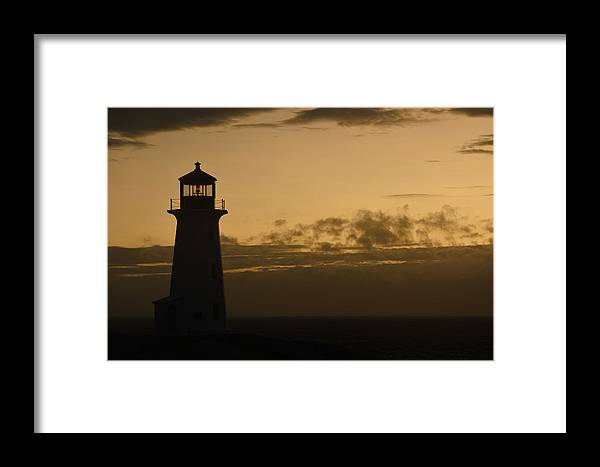 Lighthouse Framed Print featuring the photograph Peggy's Sunset by Richard Andrews