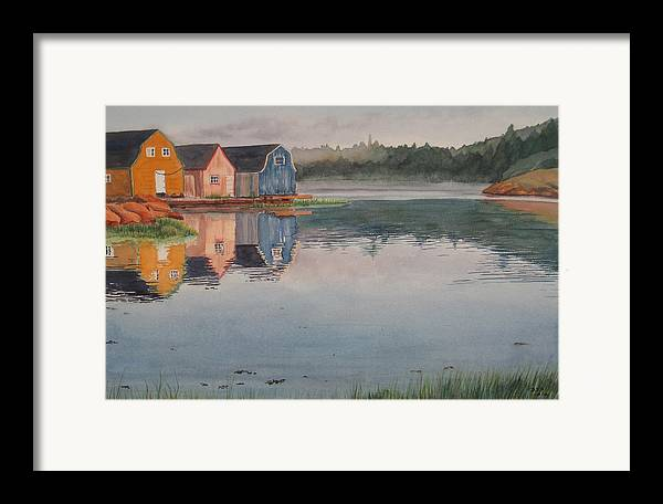 Pei Framed Print featuring the painting P.e.i. Morning by Debbie Homewood