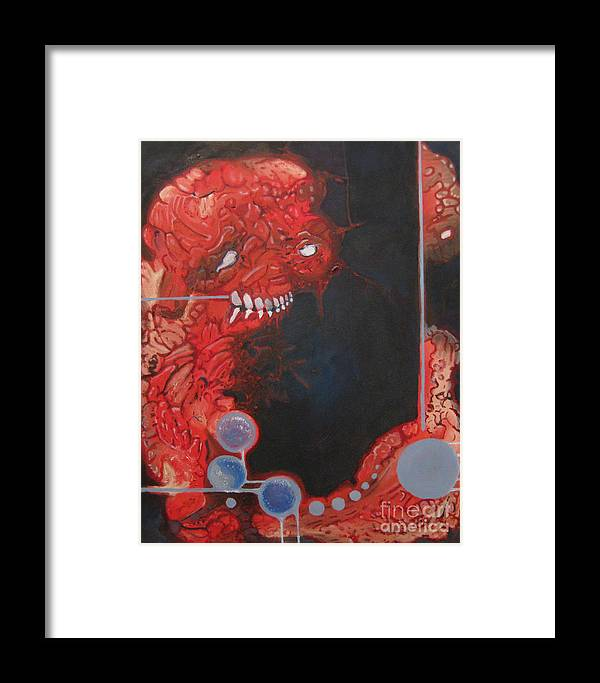 Flesh Framed Print featuring the painting Peking Boo by Ryan Mason