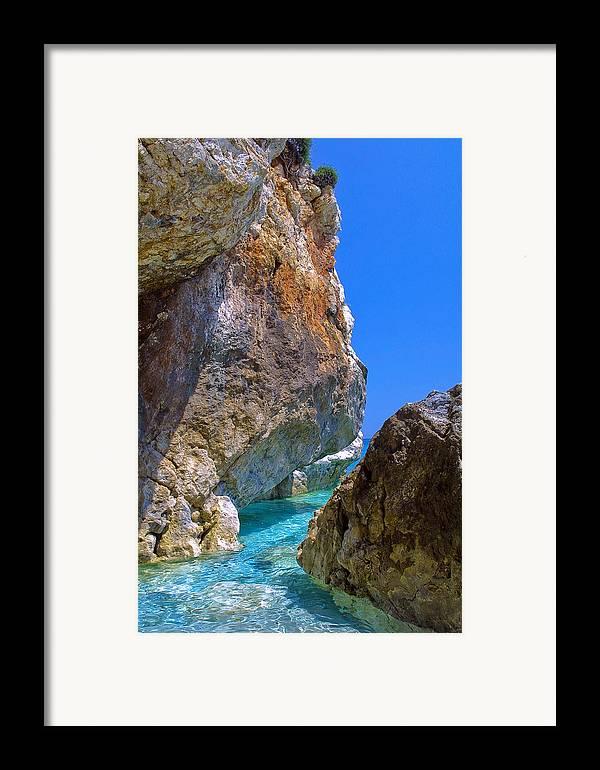 Greece Framed Print featuring the photograph Pelion Rocks by Neil Buchan-Grant