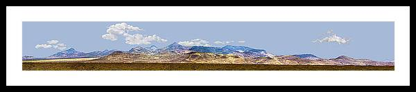 Photography Framed Print featuring the photograph Peloncillo Mountains Panorama by Sharon Broucek
