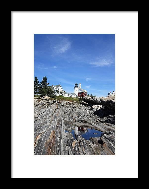 Lighthouse Framed Print featuring the photograph Pemaquid Light by Becca Brann