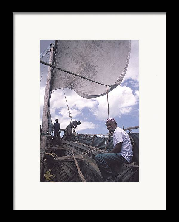 Pemba Island Framed Print featuring the photograph Pemba Boat by Marcus Best