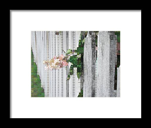 Photgraph Framed Print featuring the photograph Pencil Mosaic by Tingy Wende