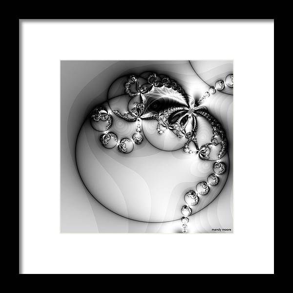 Digital Art Framed Print featuring the digital art Pendant In Silver by Amanda Moore