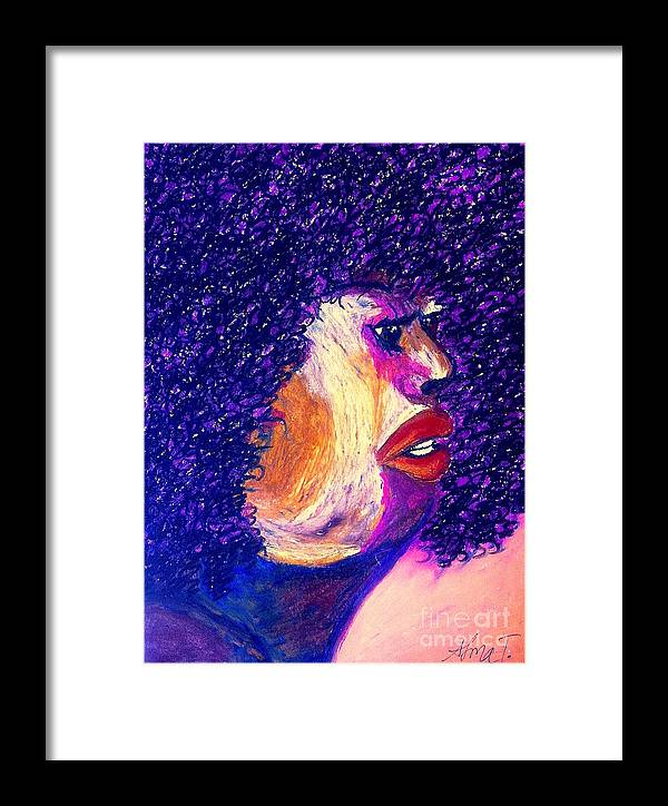 Women Framed Print featuring the pastel Penelope by Alma Trebeau