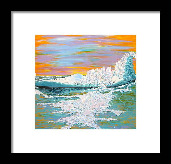 Iceberg Framed Print featuring the painting The Last Iceberg by V Boge