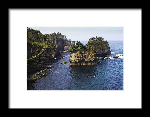 Chad Davis Framed Print featuring the photograph Peninsula Point by Chad Davis