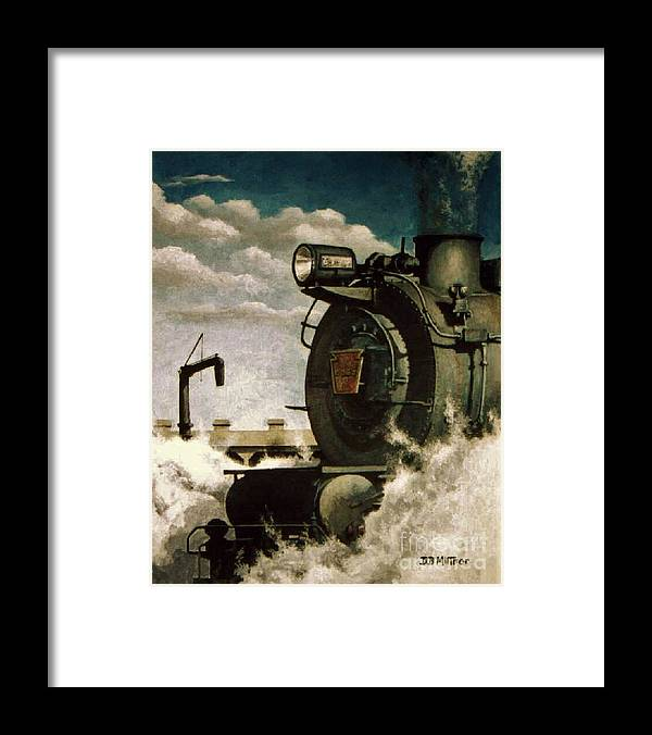 Pennsylvania Railroad Prr Train Painting Railroad Maryland And Pennsylvania Autumn Fall Colors Steam Engine Framed Print featuring the painting Pennsy M1 by David Mittner
