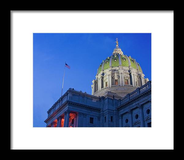 Pennsylvania Framed Print featuring the photograph Pennsylvania State Capitol by Jim Cheney