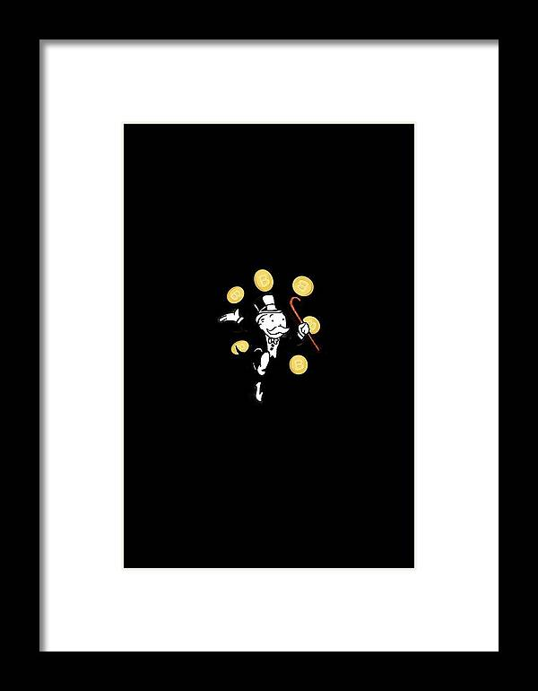 Framed Print featuring the digital art Pennybags by Elysium Emporium