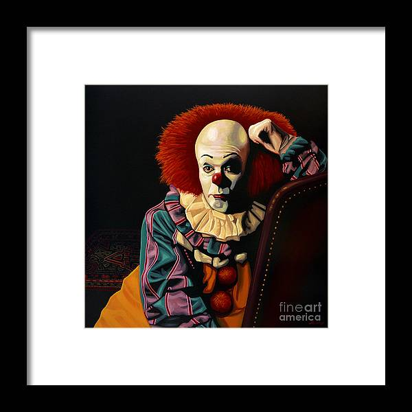 Pennywise Framed Print featuring the painting Pennywise by Paul Meijering