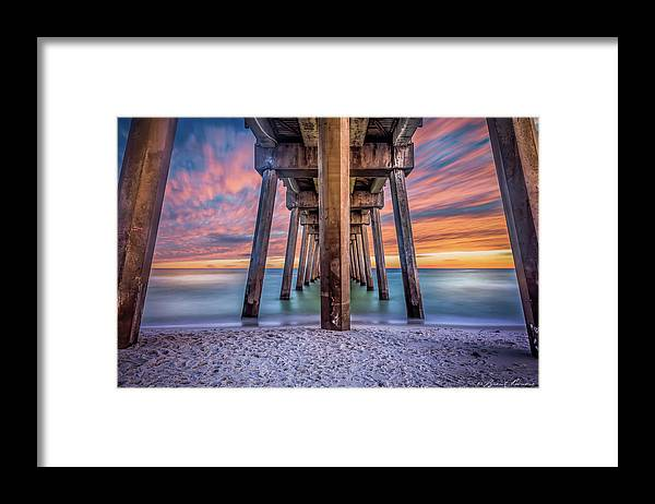 Pensacola Beach Brent Shavnore Photography Sunset Framed Print featuring the photograph Pensacola Beach Fireset by Brent Shavnore