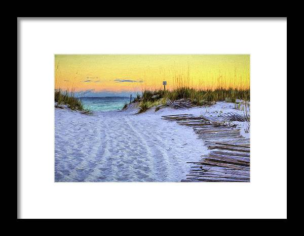 Beach Framed Print featuring the photograph Pensacola Beach Orange by JC Findley
