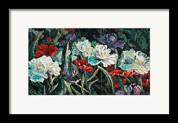 Floral Framed Print featuring the painting Peonies by Cathy Fuchs-Holman