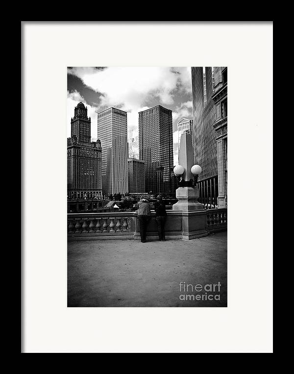 Frank-j-casella Framed Print featuring the photograph People And Skyscrapers by Frank J Casella