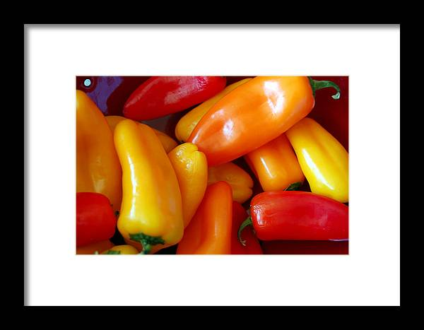 Peppers Framed Print featuring the photograph Pepper Medley by Heather S Huston