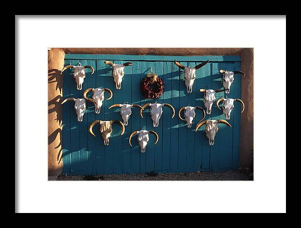 Chili Framed Print featuring the photograph Peppers And Bones by Troy Montemayor