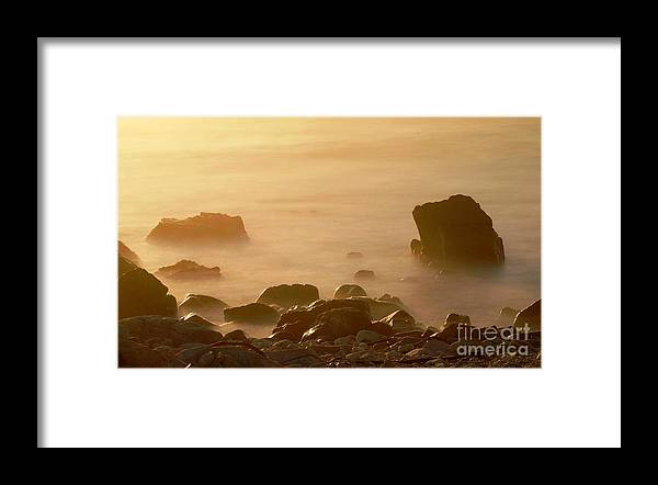 Rock Framed Print featuring the photograph Pepple Beach by Catherine Lau