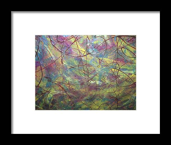 Salesman Framed Print featuring the painting Perceptible Solicitation by Paula Andrea Pyle