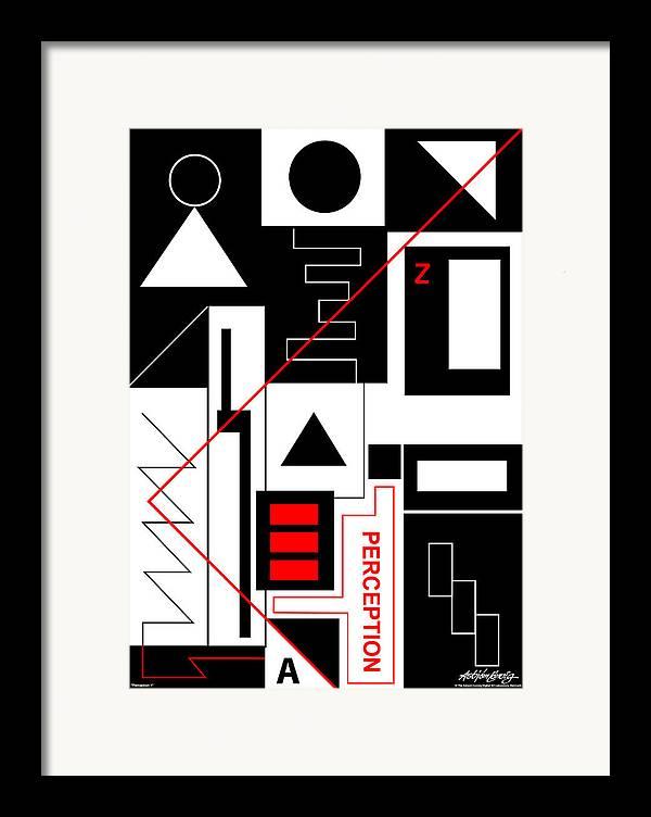 Perception Framed Print featuring the digital art Perception I - Text by Asbjorn Lonvig