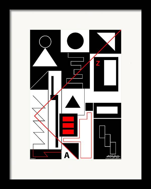 Asbjorn Lonvig Framed Print featuring the digital art Perception I by Asbjorn Lonvig